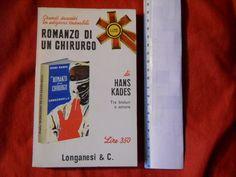 Romanzo ROMANZO DI UN CHIRURGO Hans Kades * Libri Pocket Longanesi n°79