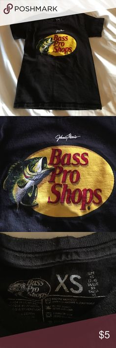 ❤️Bass Pro Shirt!❤️ Gently worn bass pro shirt! My son grew out of it! XS in size. Fits a little tight. Very cute! Shirts & Tops Tees - Short Sleeve