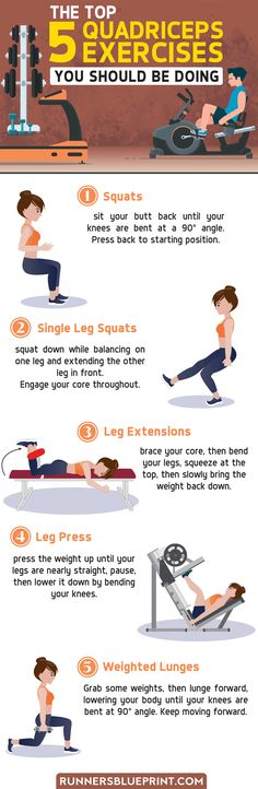 Would you like to discover some of the best exercises you can do to target your quadriceps muscles? Then you're in the right place. In this infographic, I'm sharing with you the top 5 quad moves to ad Muscle Fitness, Fitness Tips, Gain Muscle, Muscle Men, Build Muscle, Quad Strengthening, Fun Workouts, At Home Workouts, Workout Routine For Men