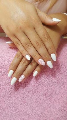 Nails oval manicure