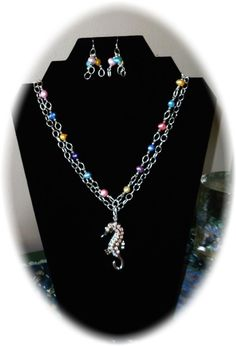 From the Sea - Jewelry creation by Angel On A Harley Gifts and Graphics Sea Jewelry, Jewelry Sets, Handmade Jewelry, Jewelry Making, Angel, Graphics, Jewels, Chain, Diamond