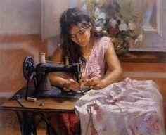 Spanish painter Vicente Romero Redondo.  20    In praise and tribute to seamstresses everywhere!