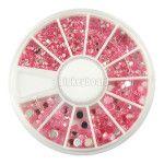 Pink nail art rhinestones Glitter# Decorating manicure