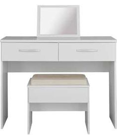 New Hallingford Dressing Table, Stool and Mirror - White.