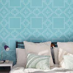 Nordic Star Stencil - Buy reusable wall stencils online at The Stencil Studio
