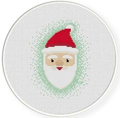 Happy Santa Cross Stitch Pattern | Craftsy