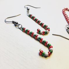 Candy cane earrings for tomorrow 😍🎄 Candy Cane, Jewellery, Drop Earrings, Instagram Posts, Christmas, Xmas, Jewels, Barley Sugar, Schmuck