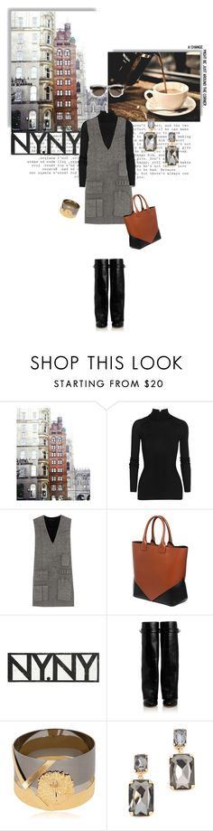 """""""#541: Pocket"""" by snowyflorida ❤ liked on Polyvore featuring Behance, T By Alexander Wang, Alexander Wang, Givenchy, Go Jump in the Lake, Versus, Shay and Yves Saint Laurent"""
