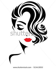 Картинки по запросу a woman's profile vector
