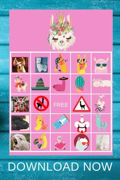 This set of llama bingo comes with 20 llama bingo cards and a calling card. Just enough llama bingo cards for a llama themed birthday party. So if you are looking for a llama birthday party activity idea, this would be the perfect llama birthday game for your little girls birthday party. Be sure to pin this to your birthday ideas board for future birthday parties.  Be sure to head over to our blog, VanahLynn.com to see mermaid birthday cake pops, and unicorn birthday invitations. Unique Birthday Party Ideas, Pink And Gold Birthday Party, 1st Birthday Party For Girls, Birthday Party Decorations Diy, Ballerina Birthday Parties, Kids Party Themes, Fall Birthday, Little Girl Birthday, Tea Party Birthday