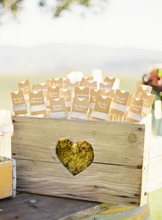 These are the exact crates I want with the handle hearts on the sides. Easy enough to cut a heart shaped hole! ~ Jose Villa | Fine Art Weddings