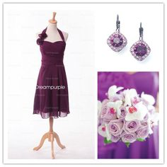 how to style purple bridesmaid dress..