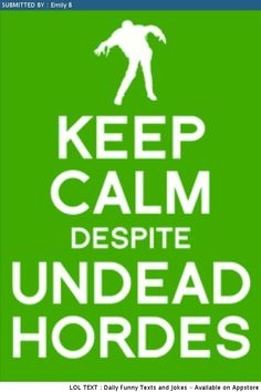 Keep Calm , It's Time for Walking Dead !!!