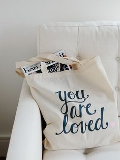 Hey, I found this really awesome Etsy listing at http://www.etsy.com/listing/158204627/you-are-loved-tote-bag