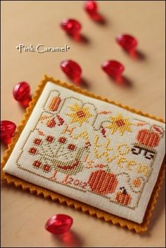 Patchwork *Pink Caramel* I thought this would be a good way to display wool and needle punch designs.