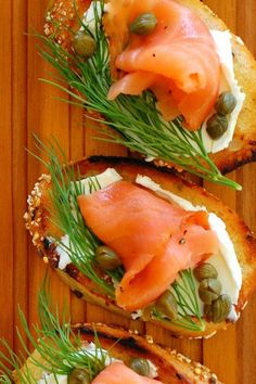Quite a while back, I did a post on Bourbon Maple Glazed Carrots and included a few photos of this smoked salmon dill and capers appetizer. I never did a Yummy Appetizers, Appetizers For Party, Appetizer Recipes, Seafood Appetizers, Avacado Appetizers, Mexican Appetizers, Halloween Appetizers, Cheese Appetizers, Canapes Recipes