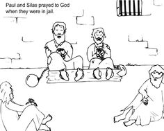 Paulo and silas coloring pages ~ 1000+ images about Lect 2013 on Pinterest   Coloring pages ...