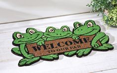 Welcome to Our Pad Frog Front Door Mat