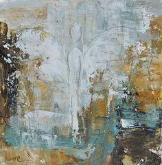 "Image of Original art by Melissa Payne Baker - 8""x8"" Angel in Aqua"