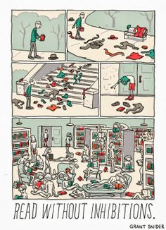 If you missed it ⇢ The joy of reading, comic by Grant Snider