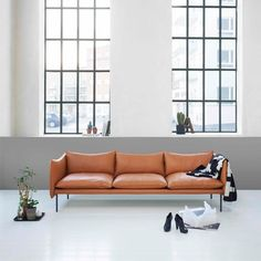 Oslo designer Andreas Engesvik has expanded his seating collection and added a new table to the range offered by Swedish design brand Fogia Sofa Seats, Couch, Sofa Design, Scandinavian Interior Design, Nordic Design, Three Seater Sofa, Sofa Styling, Soft Seating, Take A Seat