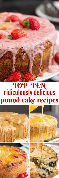 Top Ten Most Popular Ridiculously Delicious Pound Cake Recipes! My Top Ten Most Popular Pound Cake Recipes … Southern Desserts, Köstliche Desserts, Desserts To Make, Delicious Desserts, Yummy Food, Southern Recipes, Plated Desserts, Budget Desserts, Pound Cake Recipes