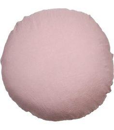 Housse de coussin rond en lin lavé 65 cm - Rose rétro www.baralinge.com (prix intéressants )