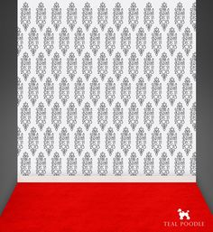 Art Deco Themed Wedding Red Carpet Backdrop - Step and Repeat Banner