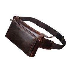Vintage Cowhide Waist Bag for Men a4ef34d164bcd
