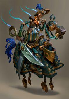 ArtStation - Character exploration- Cavaleiro Marionete, Mike Azevedo