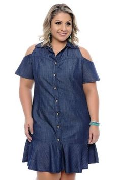 Plus Size Women S Bamboo Clothing Key: 4235147910 Denim Fashion, Curvy Fashion, Plus Size Fashion, Fashion Outfits, Fashion Tips, Jean Dress Outfits, Dress Up Jeans, Plus Size Gowns, Plus Size Outfits