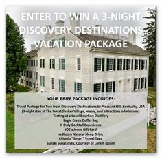 Win a 3-night trip to Kentucky's Bourbon Country – Ends July 5th #sweepstakes https://www.goldengoosegiveaways.com/win-3-night-trip-kentuckys-bourbon-country-ends-july-5th?utm_content=buffer49af1&utm_medium=social&utm_source=pinterest.com&utm_campaign=buffer