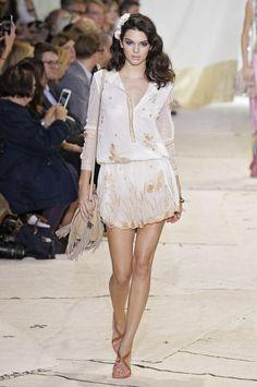 Kendall Jenner walks in the Diane Von Furstenberg runway show,  Spring 2016