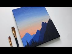 Small Canvas Paintings, Easy Canvas Art, Small Canvas Art, Easy Canvas Painting, Simple Acrylic Paintings, Mini Canvas Art, Sunset Painting Easy, Mini Paintings, Diy Canvas