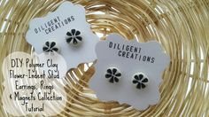 DIY: Polymer Clay Flower-Indent Stud Earrings, Rings & Magnets Collection Diligent Clusters Blog