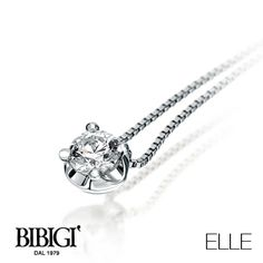 #Bibigi | Collezione #Elle | Collana punto luce in oro bianco e diamanti.