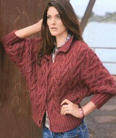 Braid Jacket free knitting graph pattern