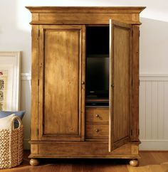 Tv armoire buying considerations tv armoire getting this for our living room! Carved Furniture, Tv Armoire, Home Furnishings, Tv Cabinets With Doors, Interior Barn Doors, Home Furniture, Tv Cupboard, Modern Outdoor Furniture, Furnishings