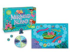 These cooperative games from Peaceable Kingdom are the best! In Mermaid Island, players work together to defeat the evil sea witch - it's fun and cute and little ones don't get in scrappy competitive fights over it. :)