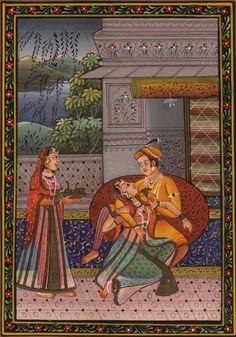 Rajasthani miniature sex