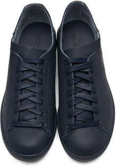 adidas Originals - Navy Stan Smith Lea Sock Sneakers