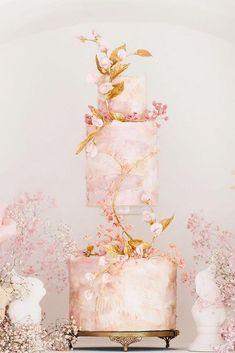 30 Beautiful Ideas Wedding Cake 2019 ❤ wedding cake 2019 tebder sqiare cake nadiaandco #weddingforward #wedding #bride