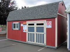 Tuff Sheds are great little storage buildings.  Love this little Barn look, plus the height.