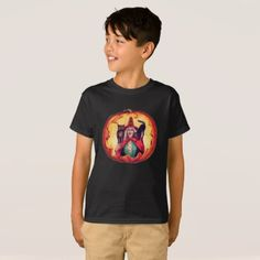 Cute Smiling Witch Owl Black Cat T-Shirt - cat cats kitten kitty pet love pussy
