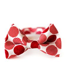 Red Holiday Polka Dot Bow Tie