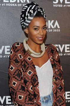 Solange Knowles FASHION & FASHIONISTAZ: F: LOOK STYLISH IN A HEAD WRAP