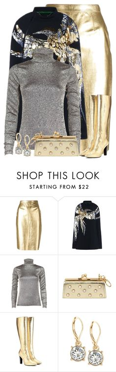 """Untitled #3271"" by majezy ❤ liked on Polyvore featuring Moschino, Barbara Bui, Dries Van Noten, Betsey Johnson, Yves Saint Laurent and Anne Klein"