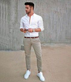 Awesome 45 Cool Mens Casual Summer Outfits Ideas. More at https://outfitsbuzz.com/2018/06/30/45-cool-mens-casual-summer-outfits-ideas/
