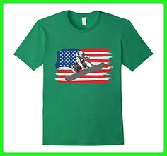 Mens Snowboard Snowboarding American Flag T Shirt Funny Snowboard Medium Kelly Green - Sports shirts (*Amazon Partner-Link)
