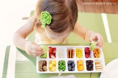 Healthy Snacks and Food Ideas for Toddlers - Toddler Ice Cube Tray Buffet